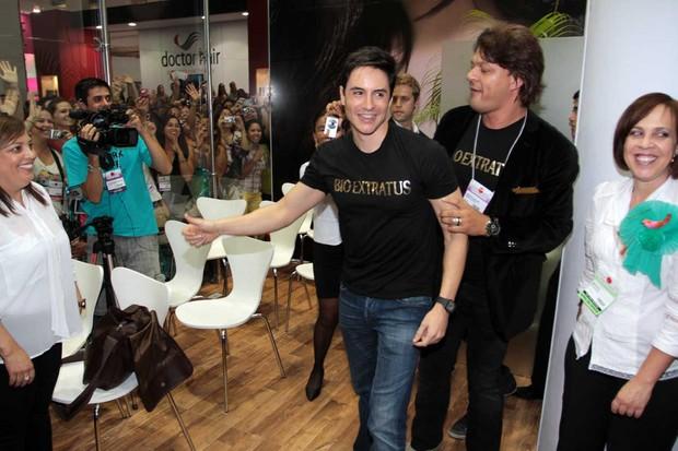 Ricardo Tozzi na 8º edição da Beauty Fair 2012, na Expo Center Norte em SP (Foto: Orlando Pliveira/AgNews)