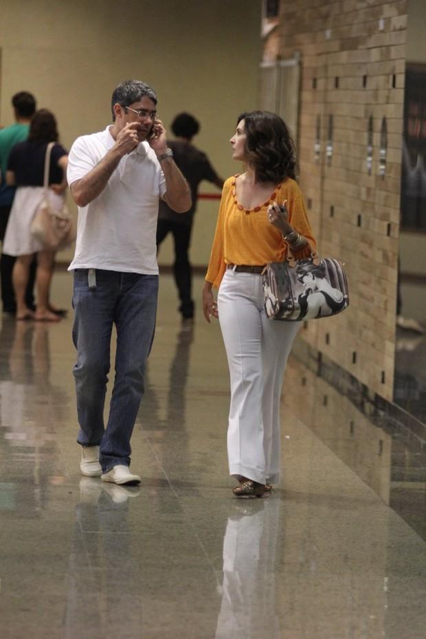 Fátima Bernardes e William Bonner (Foto: Marcus Pavão / AgNews)
