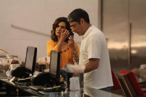 Fátima Bernardes e William Boner (Foto: Marcus Pavão / AgNews)