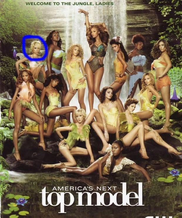 Jael Strauss na época de 'America's Next Top Model' (Foto: Divulgação)