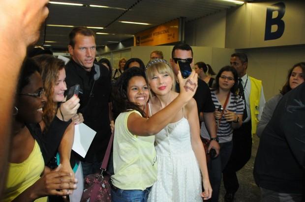 Taylor Swift (Foto: Francisco Silva e Gabriel Reis /AgNews)