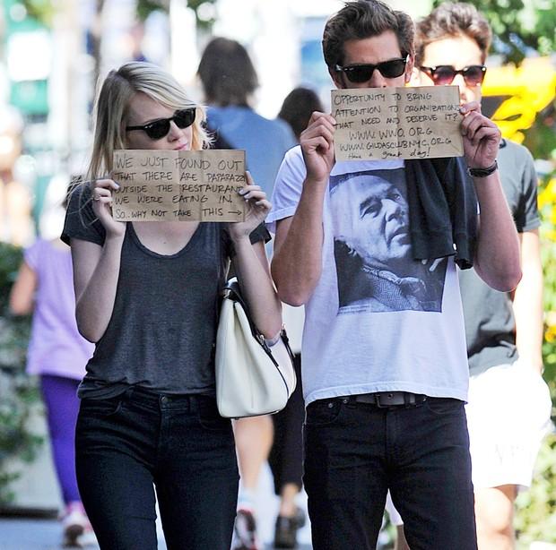 Andrew Garfield e Emma Stone (Foto: Brainpix)