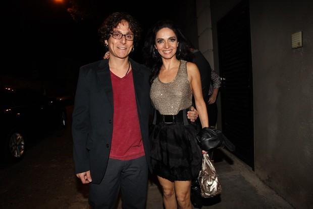 Claudia Ohana com o marido em festa do 'Dança dos Famosos' em São Paulo (Foto: Manuela Scarpa/ Foto Rio News)