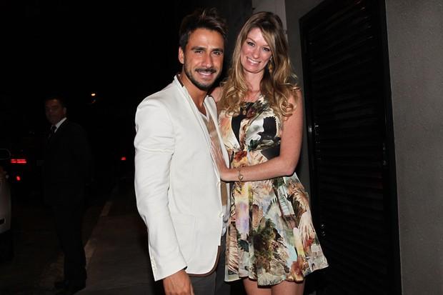 Júlio Rocha com a namorada, Patrícia, em festa do 'Dança dos Famosos' em São Paulo (Foto: Manuela Scarpa/ Foto Rio News)