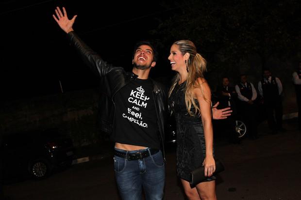 Rodrigo Simas com sua professora no 'Dança com os Famosos', Raquel, em São Paulo (Foto: Manuela Scarpa/ Foto Rio News)