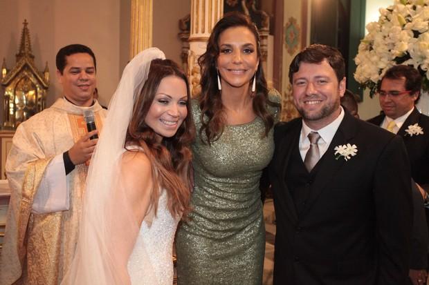 Ivete Sangalo no casamento de Solange Almeida e Wagner Miau (Foto: Josefa Coimbra/ Ag.Fpontes/ Divulgação)