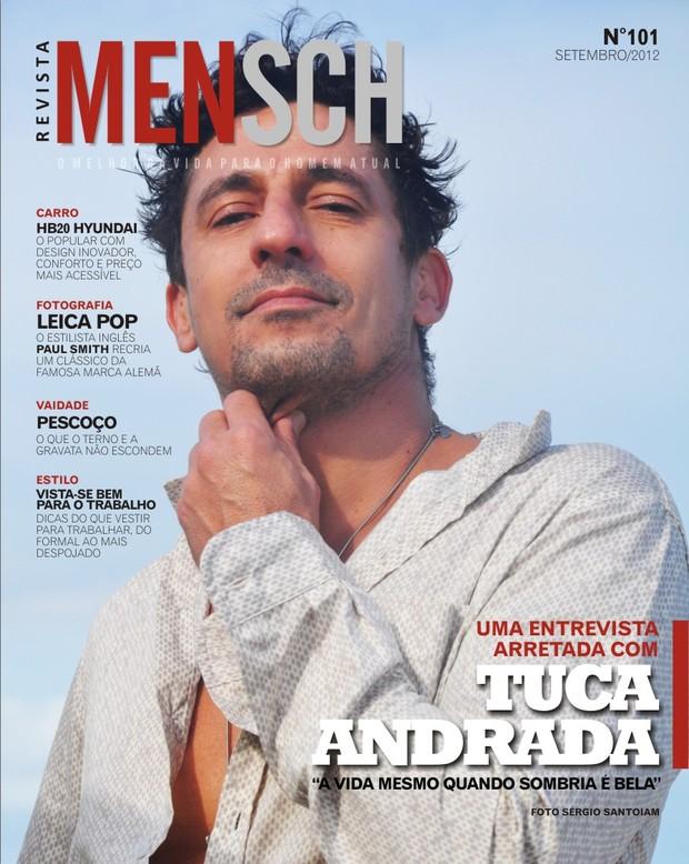 Tuca Andrada é capa da MENSCH  (Foto: Divulgação / Revista Mensch)