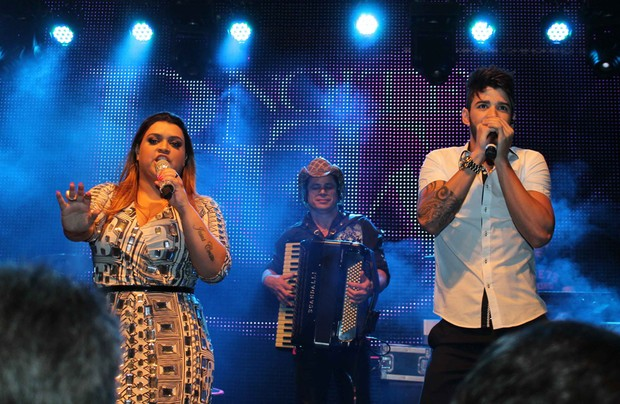 Gusttavo Lima e Preta Gil se apresentam em S&#227;o Paulo (Foto: Thiago Duran / AgNews)