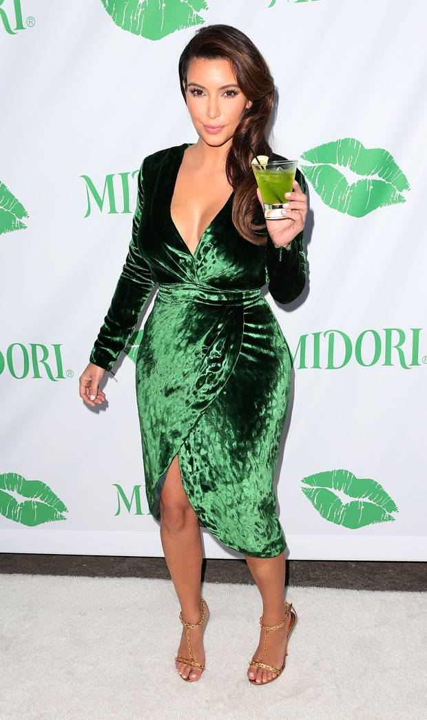 Kim Kardashian em Los Angeles, nos EUA (Foto: Frederick M. Brown/ Getty Images/ Agência)