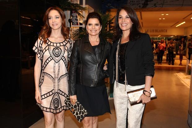 Camila Morgado, Débora Bloch e Carolina Ferraz em evento em São Paulo (Foto: Manuela Scarpa / Foto Rio News)
