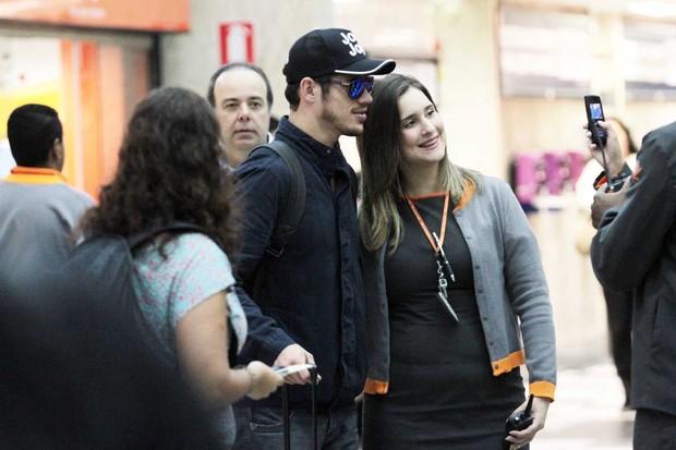 Jose Loreto no aeroporto Santos Dumont, RJ (Foto: Leotty Junior / AgNews)