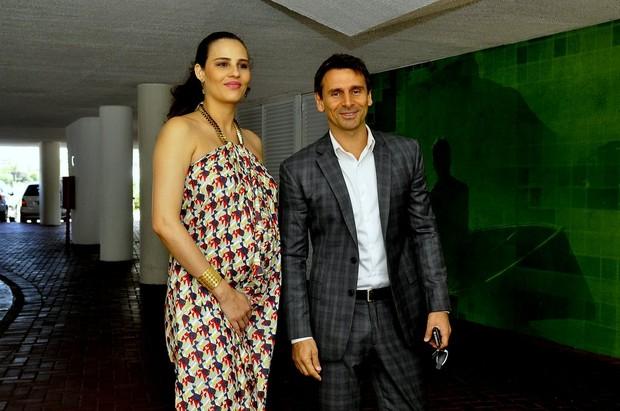 Murilo Rosa com Fernanda Tavares (Foto: Roberto Teixeira/EGO)