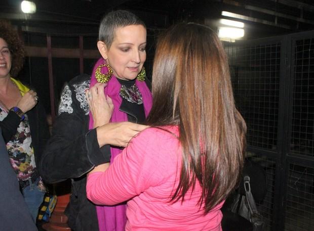 Betty Lago e Susana Vieira após peça no Rio (Foto: Fausto Candelária/ Ag. News)