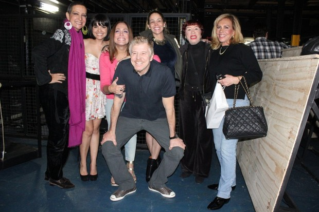 Betty Lago, Vanessa Giácomo, Susana Vieira, Miguel Falabella, Danielle Winits, Berta Loran e Arlete Salles (Foto: Fausto Candelária/ Ag. News)