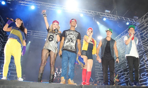 Grupo Rebeldes grava DVD em Belém, no Pará (Foto: Wesley Costa/ Ag. News)