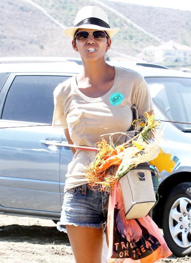 Halle Berry se irrita com paparazzi após encontro com ex (Foto: X17/Agência)