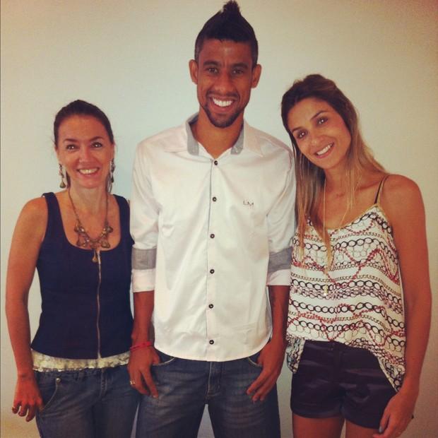Laura Sena, Léo Moura e Marcella Vinhaes (Foto: Divulgação/Divulgação)