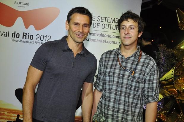 Murilo Rosa e o diretor Rafael Viana no Festival do Rio (Foto: Roberto Teixeira/ EGO)