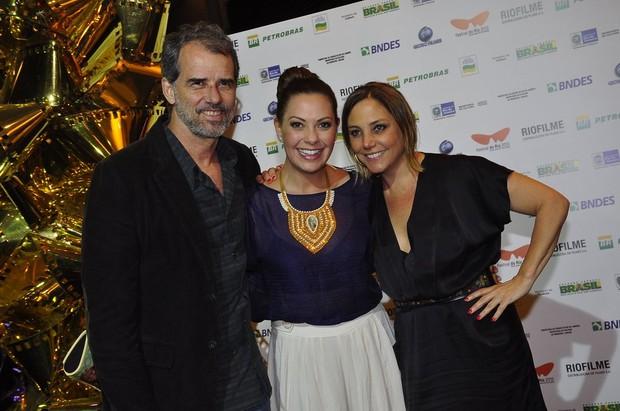 Mauro Farias, Fabiula Nascimento e Heloísa Perissé no Festival do Rio (Foto: Roberto Teixeira/ EGO)