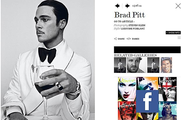 Brad Pitt posa para revista 'Interview' (Foto: Steven Klein/Interview Magazine)