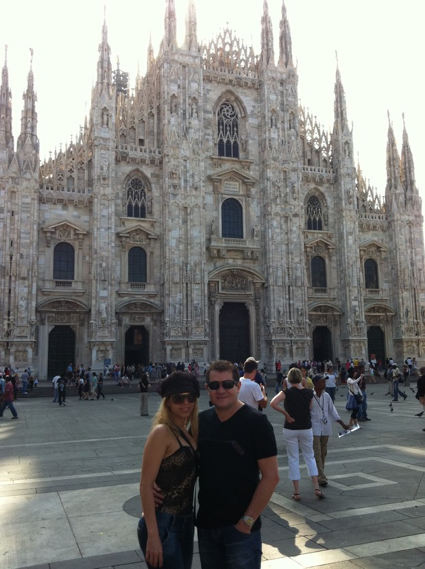 Joelma e Chimbinha em viagem à Itália (Foto: Divulgação)