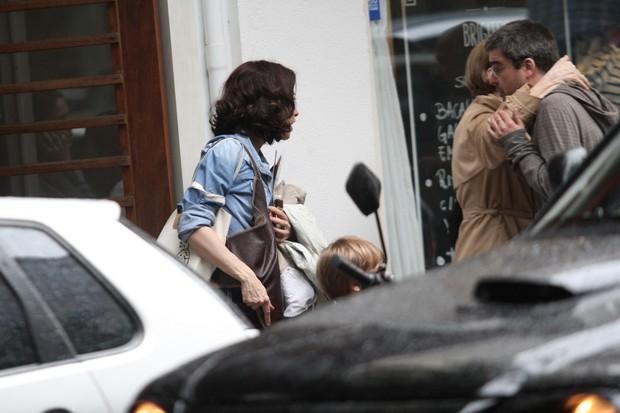 Fernanda Montenegro, Fernanda Torres e Ricardo Waddington (Foto: Wallace Barbosa / AgNews)