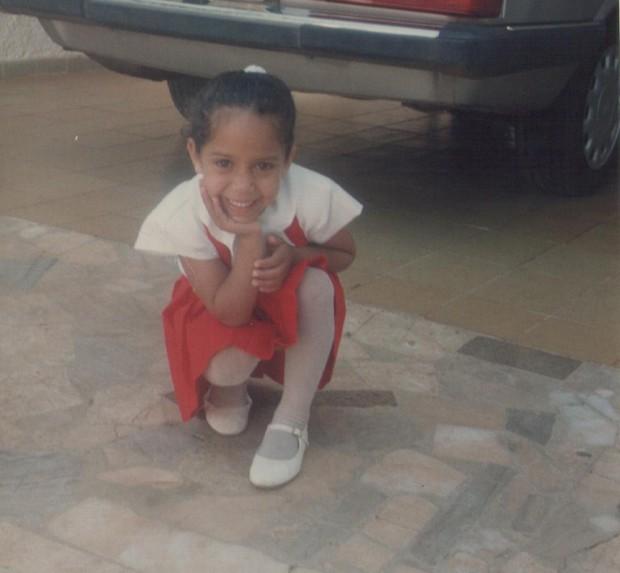 Mulher Melão quando era criança (Foto: Arquivo Pessoal)