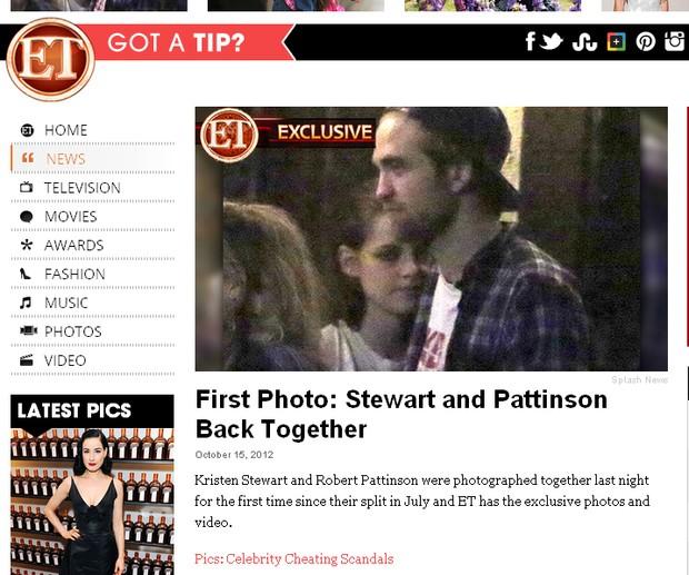 Kristen Stewart e Robert Pattinson (Foto: Reprodução)