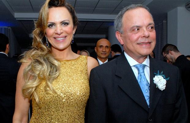 Marinara Costa e o ex-marido Fernando Vanucci no casamento da filha (Foto: Divulgação)