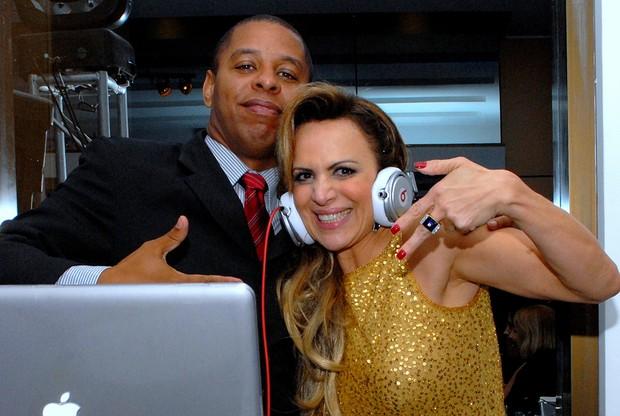 Marinara Costa com o DJ Marcelo Araújo (Foto: Divulgação)