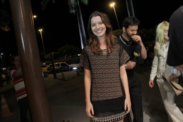 Nathalia Dill em festa no Rio (Foto: Isac Luz/ EGO)