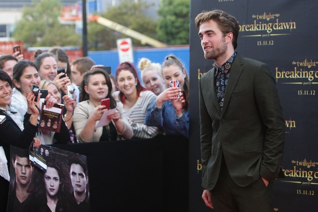 Robert Pattinson na première de 'Amanhecer - parte 2' em Sidney (Foto: Getty Images)