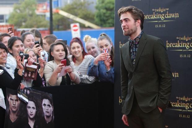 Robert Pattinson na première de 'Amanhecer - parte 2' em Sidney (Foto: Getty Images)