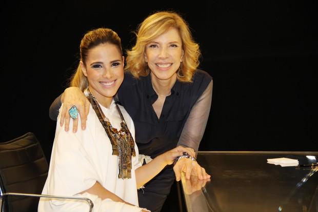 Wanessa e Marilia Gabriela  (Foto: Carol Soares/SBT)