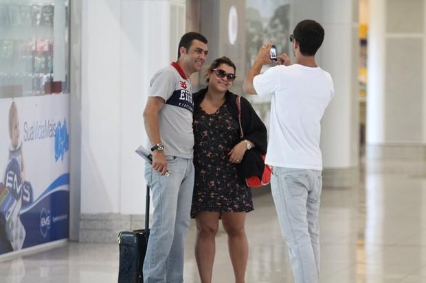Preta Gil no aeroporto Santos Dumont, RJ (Foto: Henrique Oliveira / FotoRioNews)