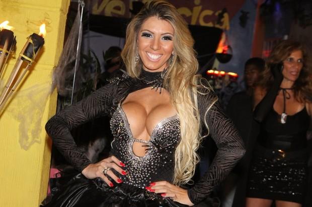 Andrea de Andrade em festa no Rio (Foto: Marcello Sá Barretto/ Foto Rio News)