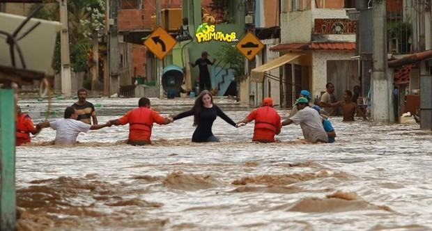 Nana Gouveâ pelas tragédias do mundo nas 'Região Serrana' (Foto: Reprodução)