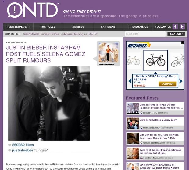 Justin Bieber ONTD (Foto: Reprodução/ONTD)