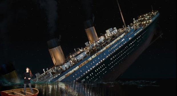 Nana Gouveâ pelas tragédias do mundo no 'Titanic' (Foto: Reprodução)