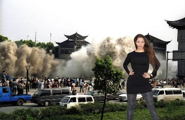 Nana Gouveâ pelas tragédias do mundo na 'Tsunami do Japão' (Foto: Reprodução)