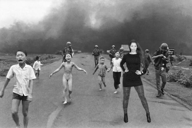 Nana Gouveâ pelas tragédias do mundo no 'Vietnã' (Foto: Reprodução)