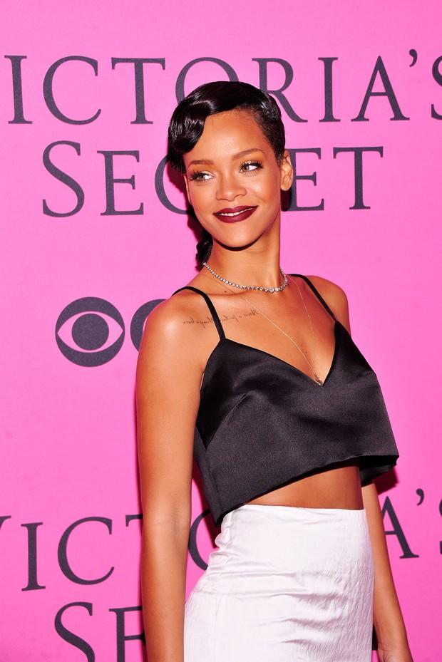 Rihanna em festa pós-desfile da Victoria's Secret em Nova York, nos EUA (Foto: Dimitrios Kambouris/ Getty Images/ Agência)