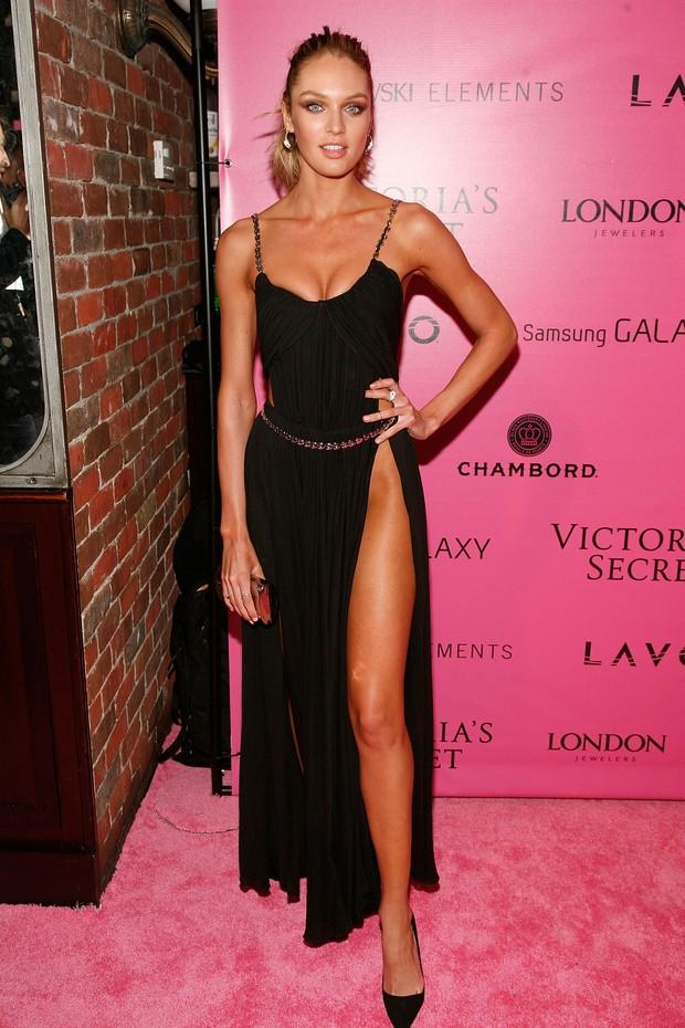 Candice Swanepoel em festa pós-desfile da Victoria's Secret em Nova York, nos EUA (Foto: Dimitrios Kambouris/ Getty Images/ Agência)