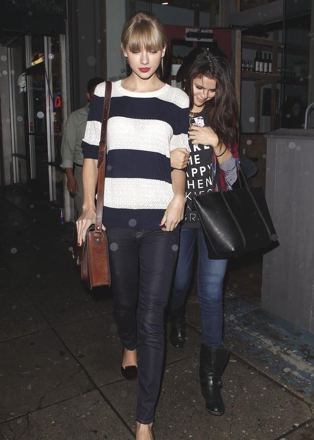 Taylor Swift e Selena Gomez (Foto: Maciel/X17online.com)