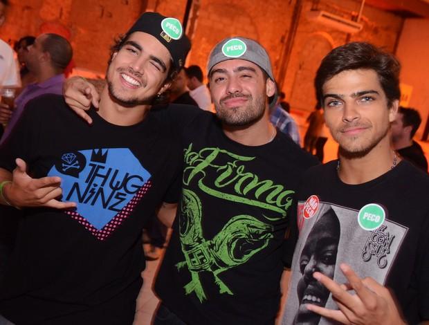 Caio Castro, Yuri e Bernardo Mesquita (Foto: Ari Kaye / Divulgação)