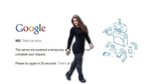 Nana Gouvêa na queda do google (Foto: Divulgação)
