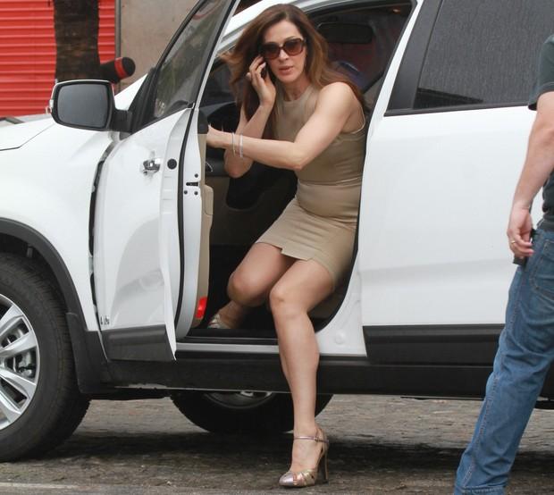 Claudia Raia grava 'Salve Jorge' (Foto: Dilson Silva / AgNews)