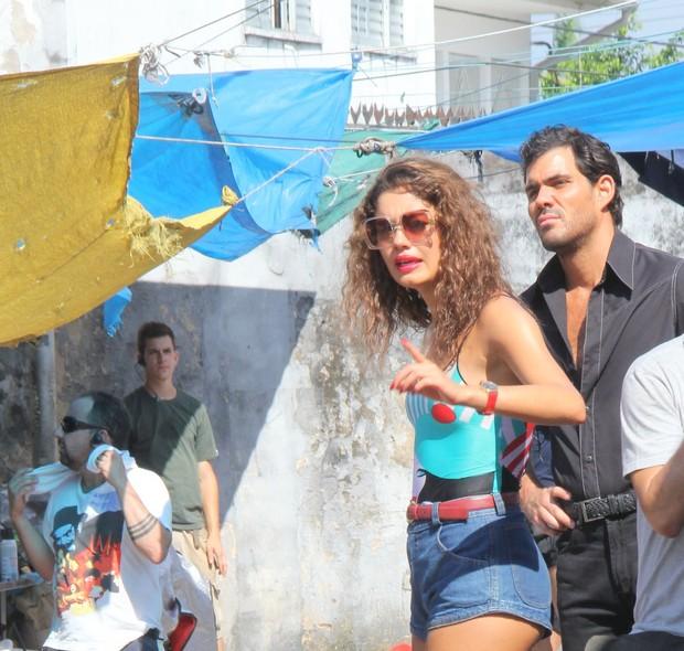 Sophie Charlotte e Juliano Cazarré na gravação do Filme 'Serra Pelada' (Foto: Wesley Costa / Agnews)