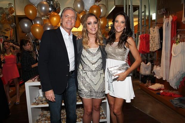 Roberto Justus, Fabiana Justus e Ticiane Pinheiro (Foto: Manuela Scarpa/Fotorio News)