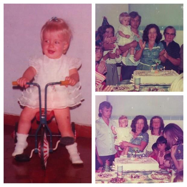 Angélica comemorando seu aniversário de um ano (Foto: Reprodução/Facebook)
